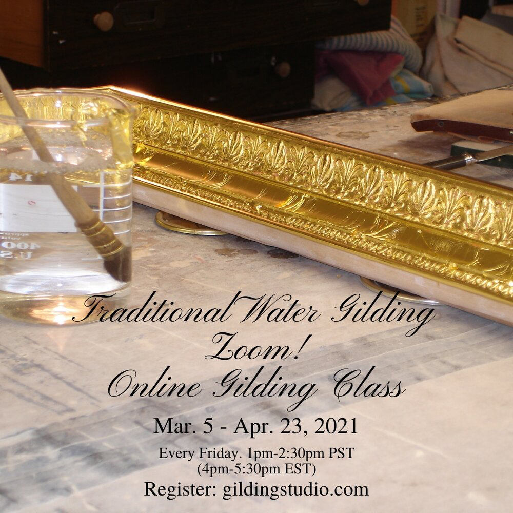 Water gilding gold leaf classes