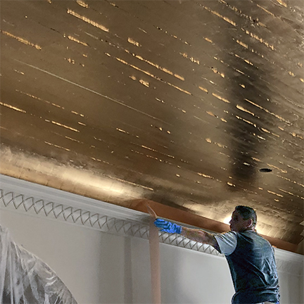 22kt moon gold leaf ceiling