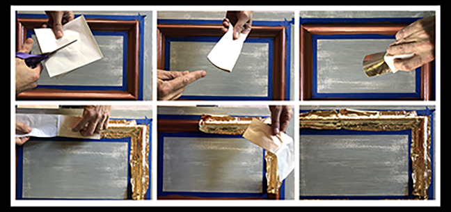 how to apply gold leafing