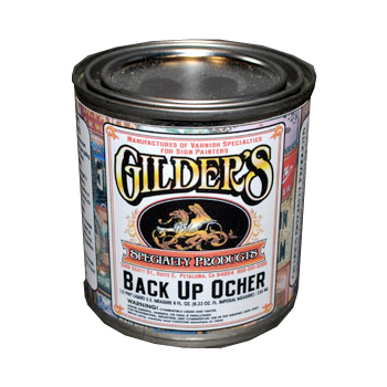 Back up paint for glass gilding