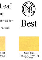 Best gold leaf color chart