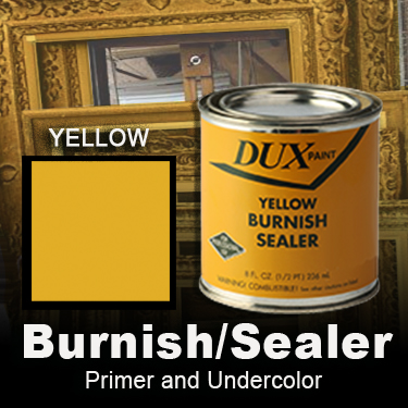 Yellow ochre paint and primer for gilding