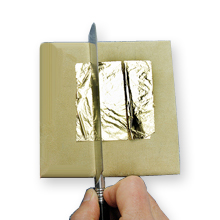 Gilding pad for cutting gold and Silver leaf