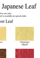 Japanese Silver Leaf color chart