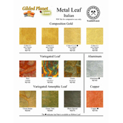 Nazionale metal leaf color chart