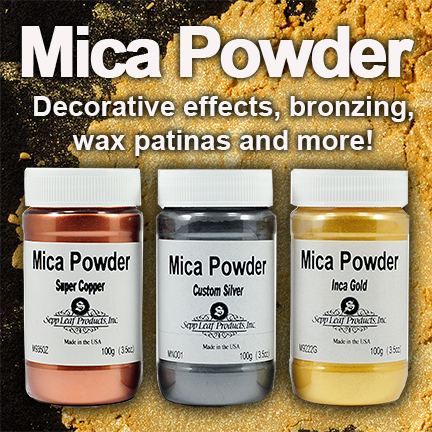 Mica powder for bronzing and faux effects