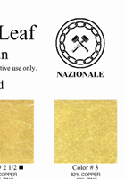 Metal leaf color chart
